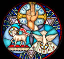 Holy Trinity stained glass window