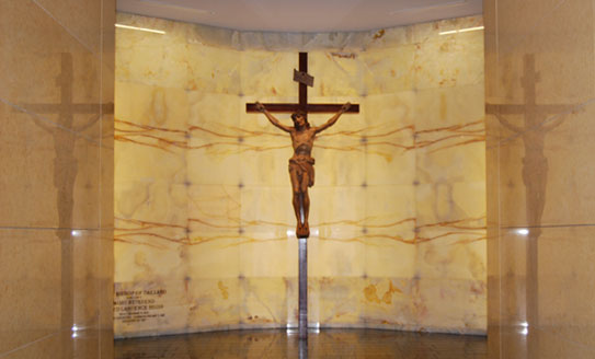 Christ Crucified - Crypt of The Cathedral of Christ the Light