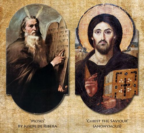 Moses and Christ (Pantokrator)